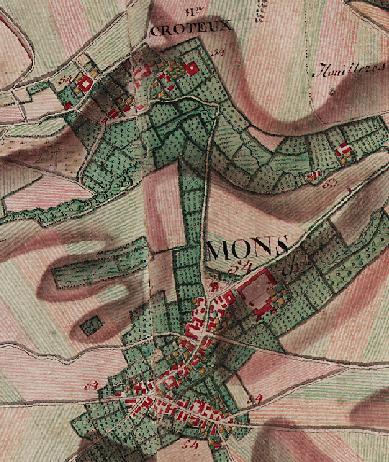 Mons-les-Liège (carte Ferraris 1770-1778)