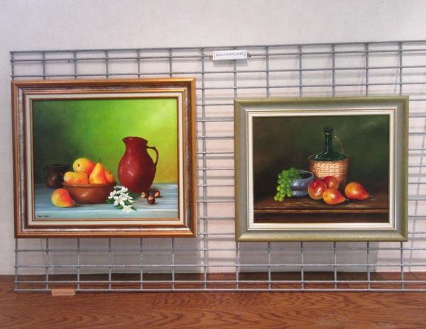 Les peintres de la MJC de Sainte Colombe sur Seine ont présenté de superbes tableaux  lors de leur exposition de 2018...