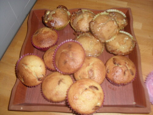 On continue dans la lancée...muffins chocolat blanc et muffin Citron/cranberries