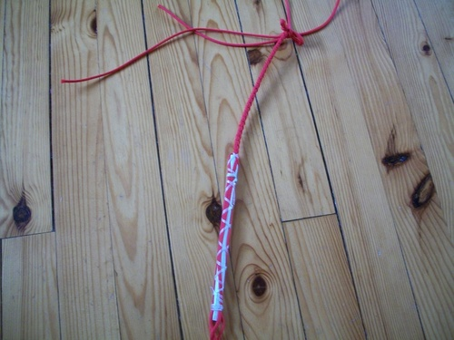 bullwhip nylon 3ft :conception pas à pas (suite)