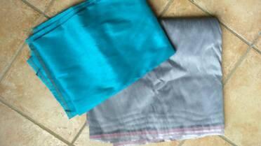 Tissu aspect soie en solde