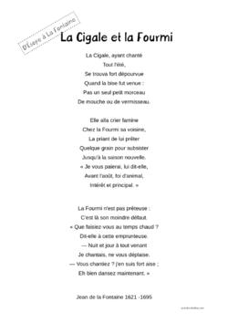 Des fables d'Esope...aux fables de La Fontaine - CE1