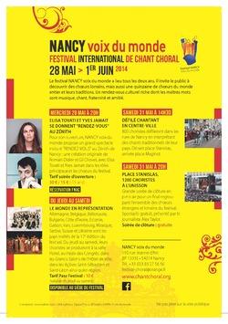 Le Festival Nancy Voix du Monde, première annonce