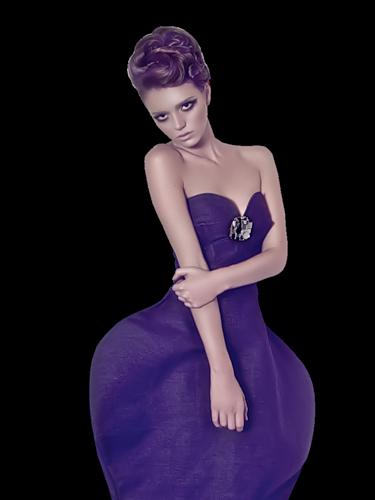Femmes en violet, femme, violet