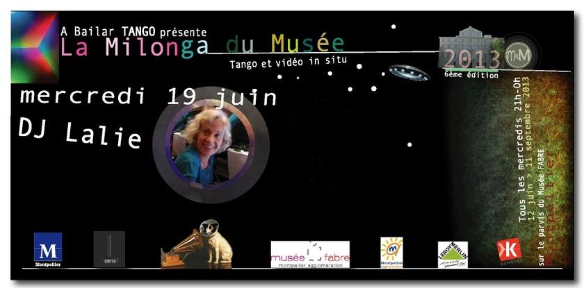 DJ LALIE mercredi 19 juin à La Milonga du Musée