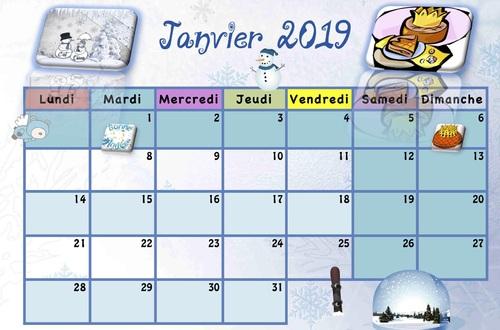 Calendriers enfants 2018/2019