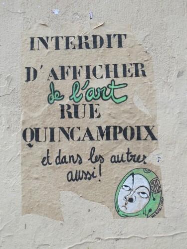 street-art Quincampoix interdit afficher