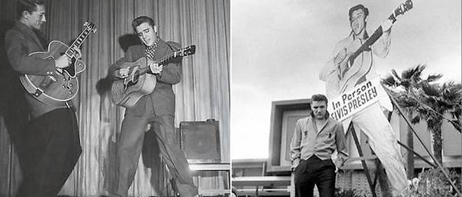 Elvis Presley fait un bide pour sa premiere apparition a Las Vegas, le 23 avril 1956.