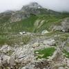 Muret en pierres sèches, à l'Est du col du Pourtalet, limite de terrain d'usage commun Ossau/Tena