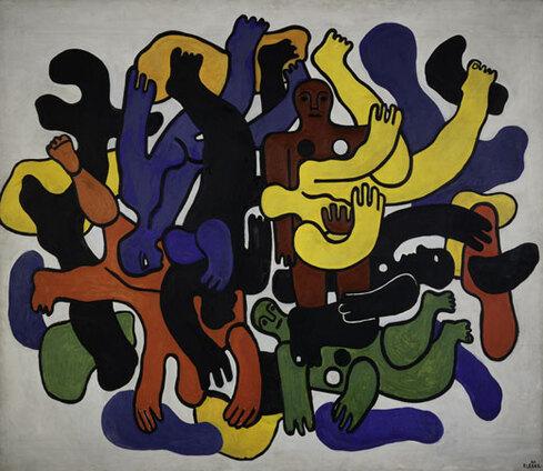 Fernand Léger : Les grands plongeurs noirs, 1944. Huile sur toile, 189 cm x 221. Centre Pompidou, MNAM-CCI / Jacques Faujour / Dist RMN-GP. Adagp, Paris 2017