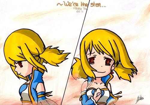 Lucy Heartfilia (Fairy Tail) ~ by ¤ Elodie - Manga O Ekaki ¤