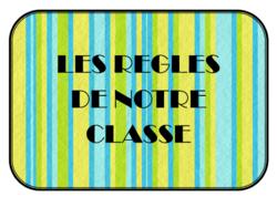 affichage des règles de la classe