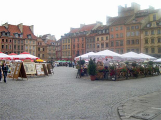 photo La place du marché l'été