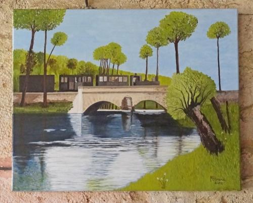 """Le """"tacot"""" , vu par les peintres de la Section Peinture des Amis du Châtillonnais..."""