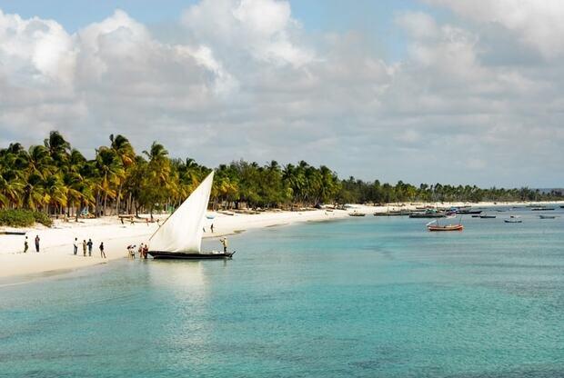 Les eaux de l'île de Vamizi