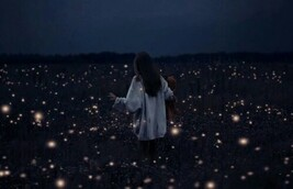 Image de girl, light, and night