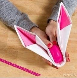 DIY Origami : Pliage de serviette - Lapin 3 / La Folie des Fêtes