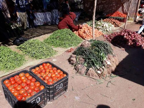 Les légumes à même le sol