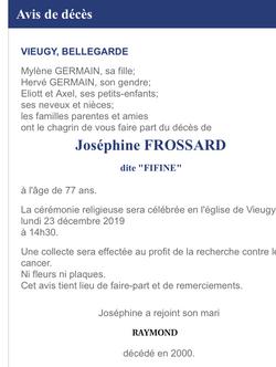Aurevoir et Merci Joséphine
