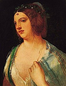giorgione, Bust Portrait of a Courtesan, c. 1509, norton si