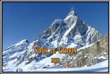 Ski sous le Cervin dans le Val d'Aoste