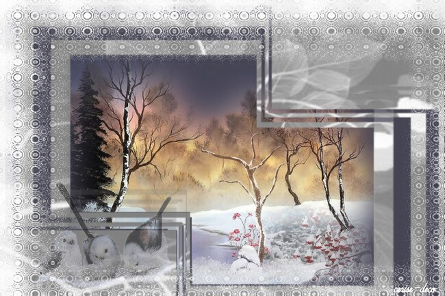 design paysage d'hiver