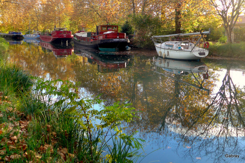 Canal du Midi: des péniches
