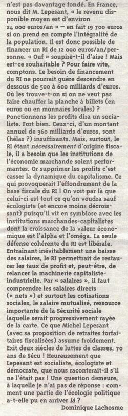 Arguments décisifs contre le revenu de base, outil du Capital.