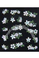 Stickers d'ongles trio de fleurs en été
