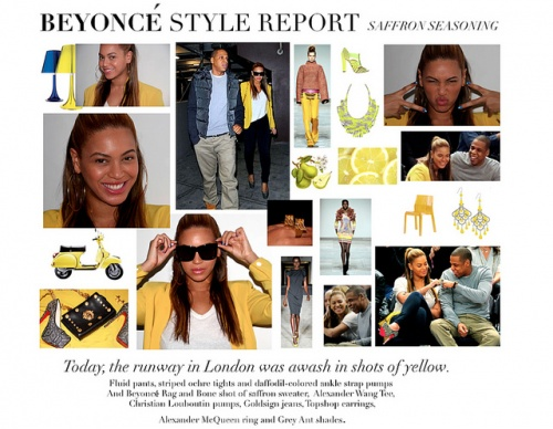 Beyoncé the Style Report!