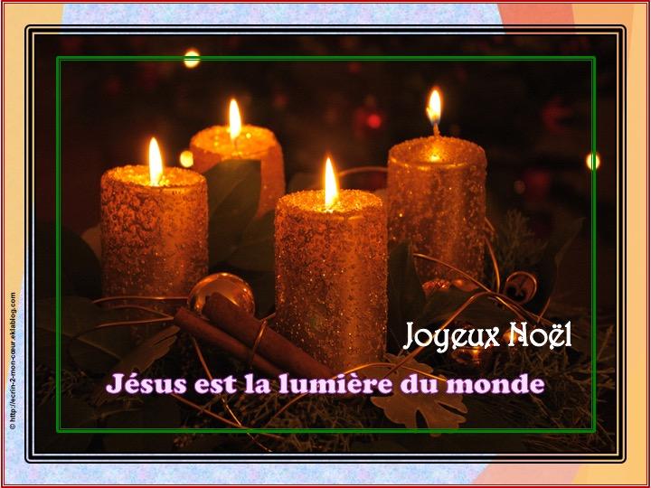 Joyeux Noël - Jésus est la lumière du monde
