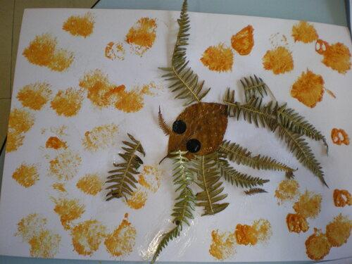 Activités artistiques avec les éléments de la forêtn( P.P.S./P.S.)