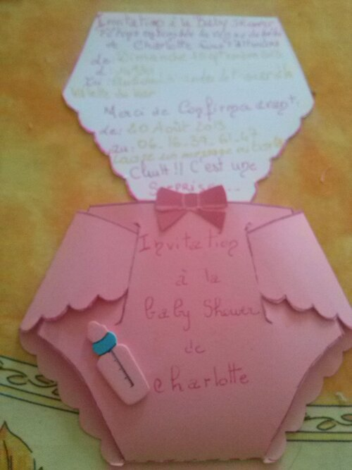 Enfin quelques photos de la Baby shower de Charlotte