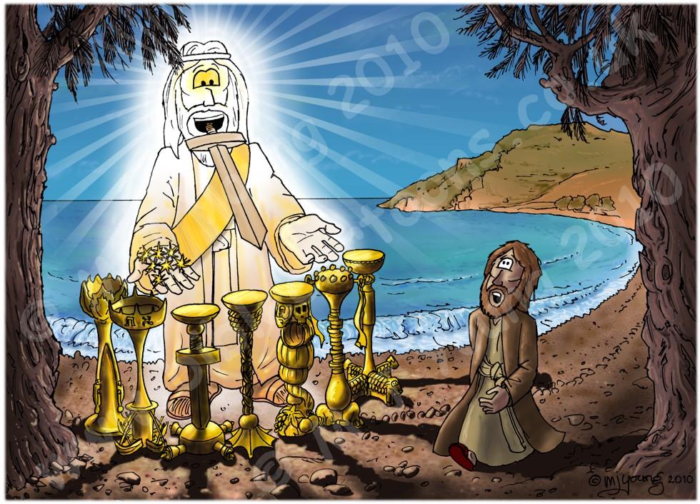 Revelation 01 - Vision of the Son of Man - Scene 01 - John on Patmos