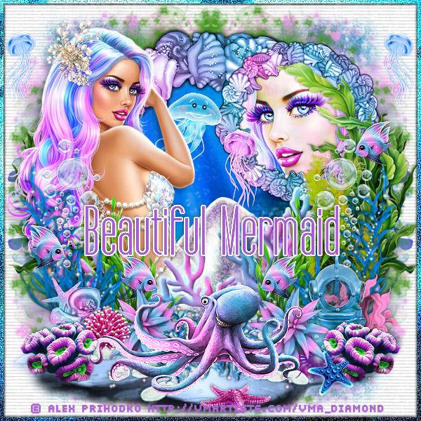 "Tutoriel ""Beautiful mermaid"" de Liligraph chez Lili et Mumu"