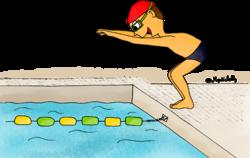 Dessin - La piscine