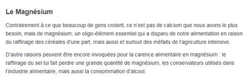 Le chlorure de magnésium, des bienfaits trop souvent méconnus