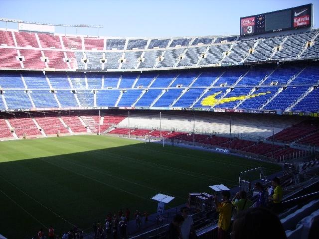 le stade,enfin la pelouse et gradin ^^