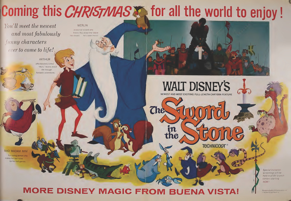 THE SWORD IN THE STONE BOX OFFICE USA 1963