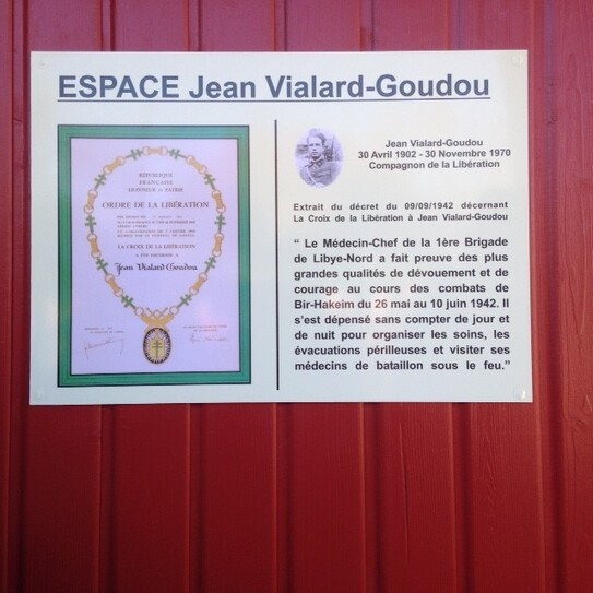 * Inauguration d'un espace Jean VIALARD-GOUDOU en Gironde (Compagnon, service de Santé de la 1ère DFL)