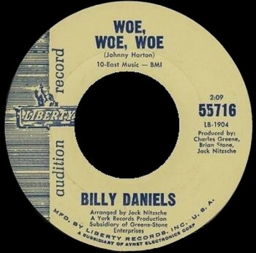 Billy Daniels : Woe , Woe , Woe