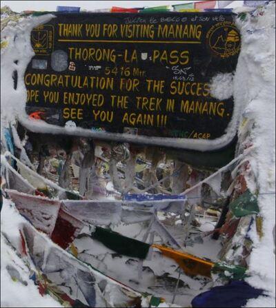 6-4/Népal /  Tour des Annapurnas / 4000 m ,le mal des montagnes !
