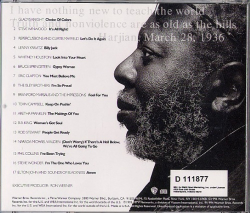 """1993 : CD """" All Men Are Brothers : A Tribute To Curtis Mayfield """" Warner Bros Records"""
