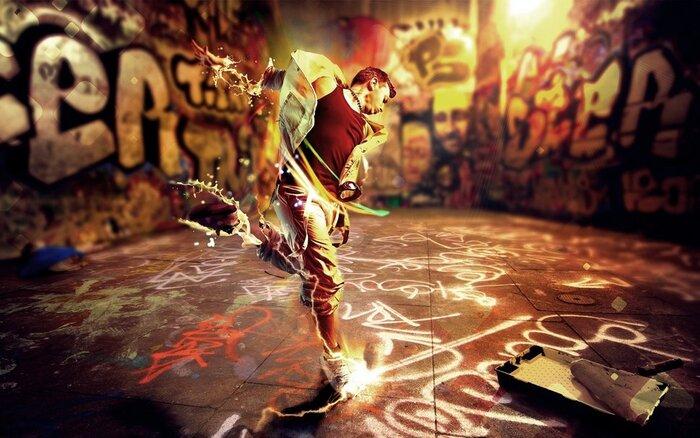 brûler la piste de danse Wallpaper