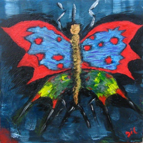 338b. Le papillon toile acrylique