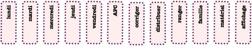 rangement de la classe - les étiquettes