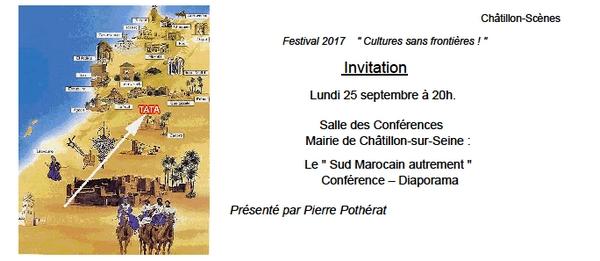 """Pierre Pothérat va présenter, pour le Festival """"Cultures sans frontières"""", une passionnande conférence sur le sud marocain...."""
