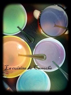 Cheesecake citron spéculos, version arc-en-ciel