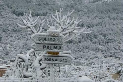 hiver neigeux sur l'île magique