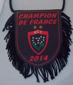 Fanion RCT (30) Recto Champion de France 2014